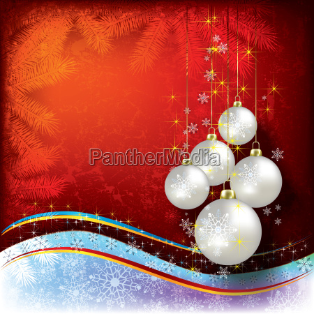 abstract christmas background with pearl decorations