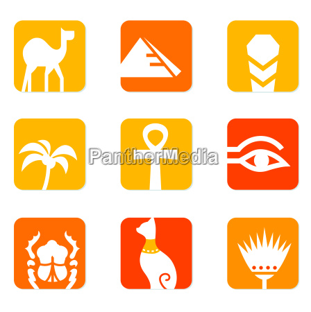 egypt icons and design elements block