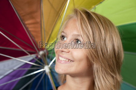 young woman with a parasol