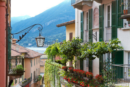 typical residential house on lake como