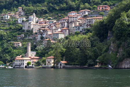 the picturesque village careno on lake