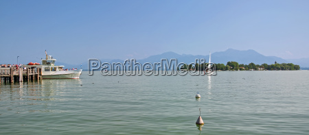 view from prien am chiemsee to
