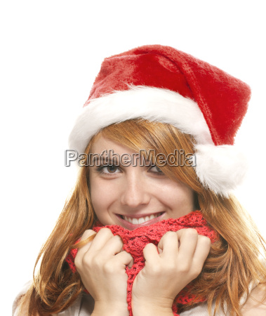 portrait of a laughing red haired