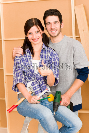 home improvement young couple diy repair