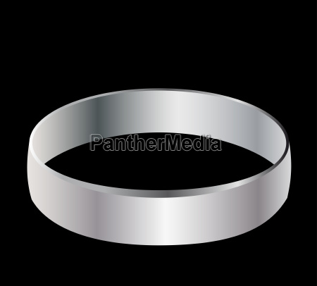 wedding ring man silver