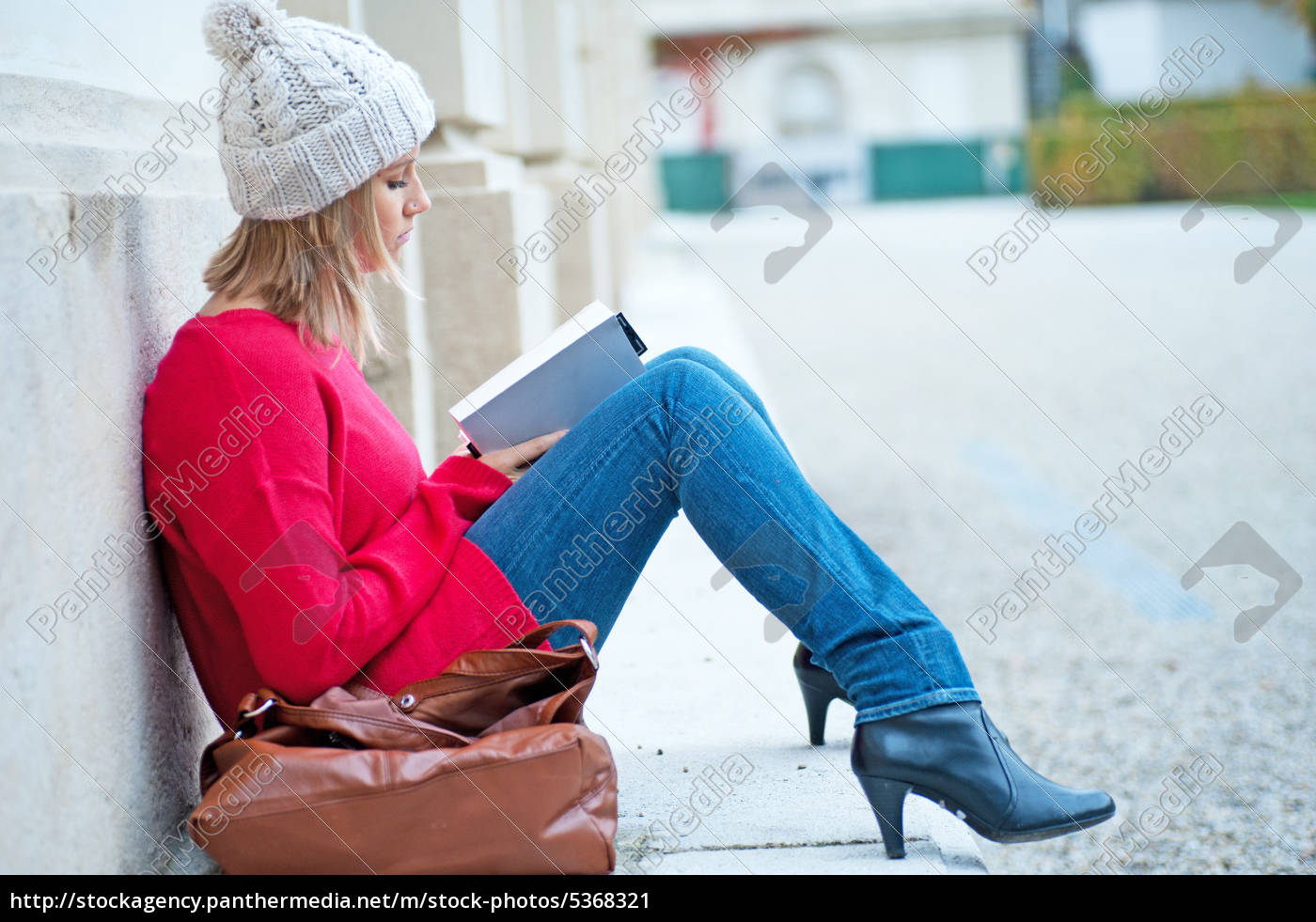 young, woman, reading, a, book - 5368321