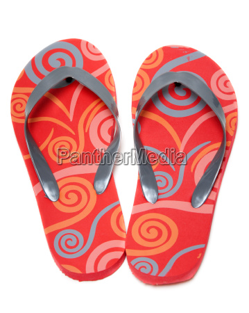 red beach footwear