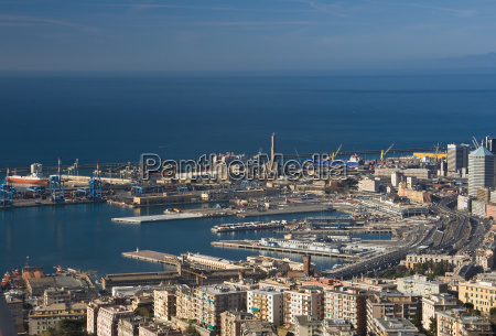port of genoa aerial view