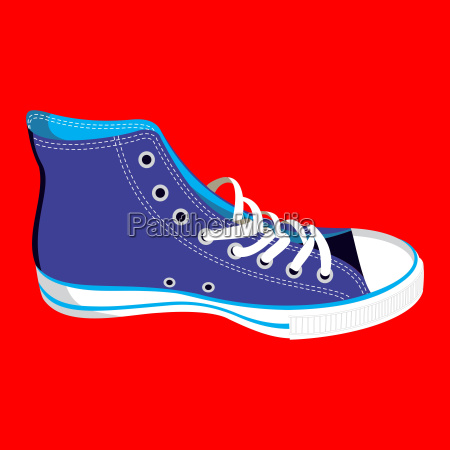 teenager sneaker isolated