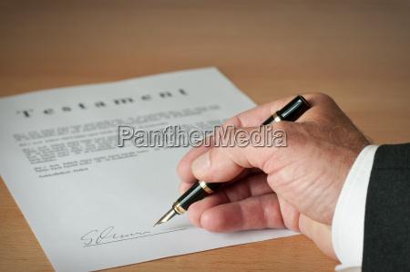 write testament