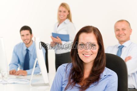business team pretty businesswoman portrait