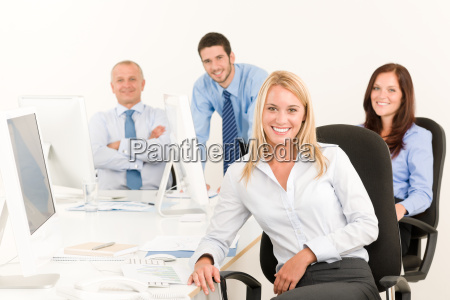 business team pretty smile businesswoman portrait