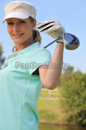 female golfer