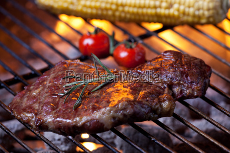 closeup of a steak on the