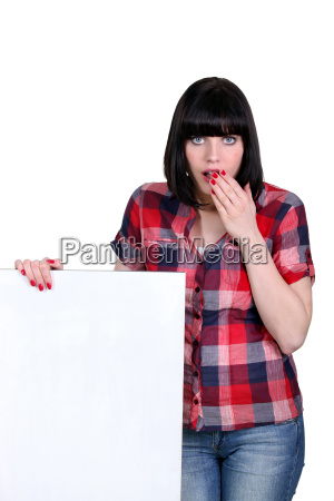 attractive woman with a board left