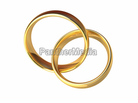 gold wedding rings together