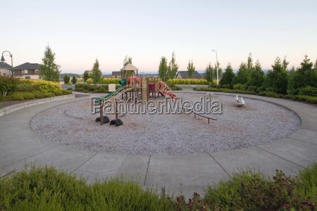 neighborhood public park children039s circular playground