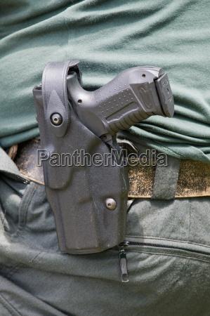 pistol of a policeman
