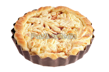 pie with decorative ornaments