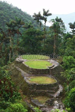 main terraces and the frog stone