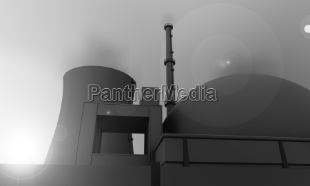 nuclear power plant in gray