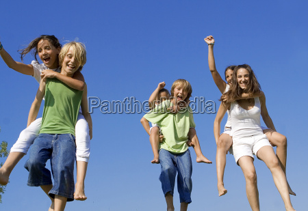 piggyback race healthy active kids at