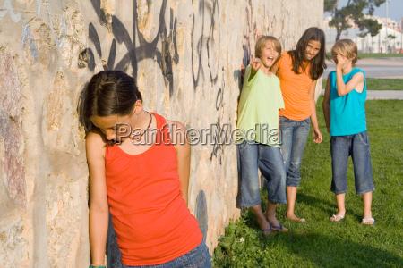 school bully or bullies bullying sad