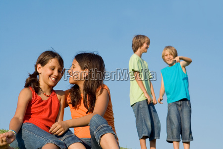 group of kids at summer school