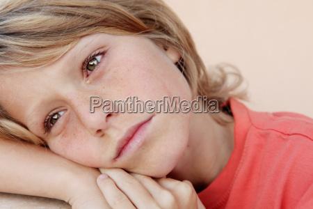sad unhappy child crying tearss