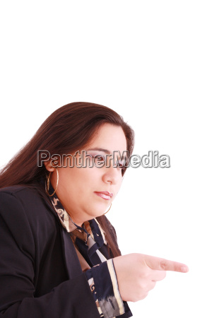 disappointed woman showing her unhappiness by