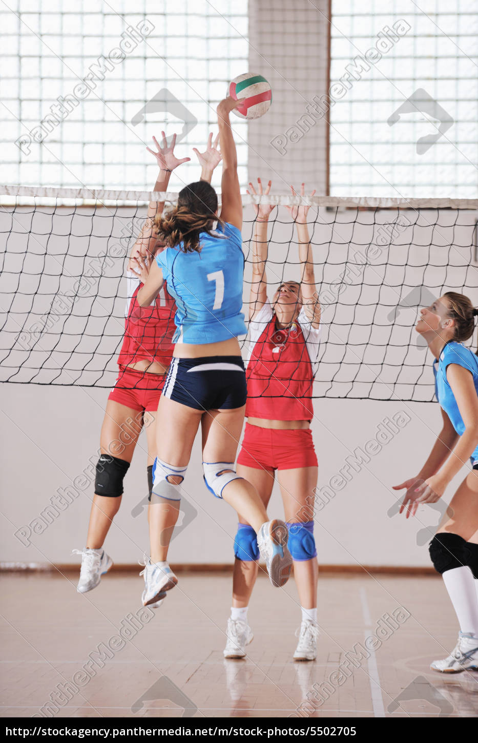 girls, playing, volleyball, indoor, game - 5502705