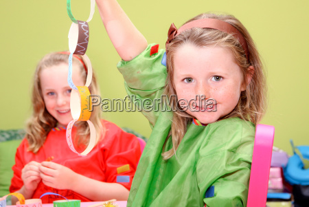 children or kids playing art and