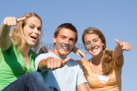 happy group of smiling kids with