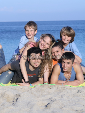extended family kids on holiday or