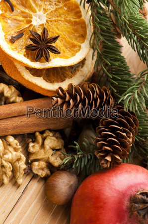 different kinds of spices nuts and