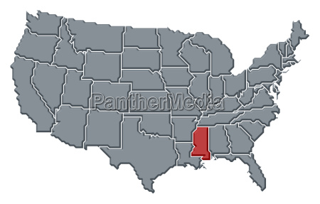 map of the united states mississippi