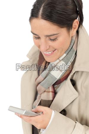 mulher moda inverno temporada jovem queda