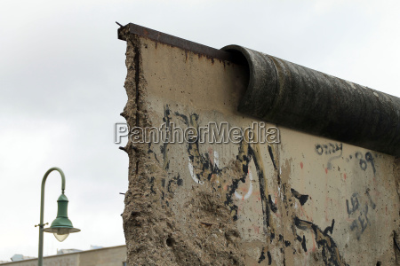 wall remains on bernauer strasse