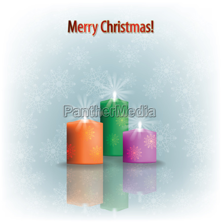 christmas candles on grey