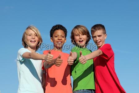 group of divderse kids at summer
