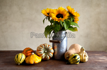 autumn image with pumpkin