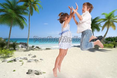 happy children on holiday