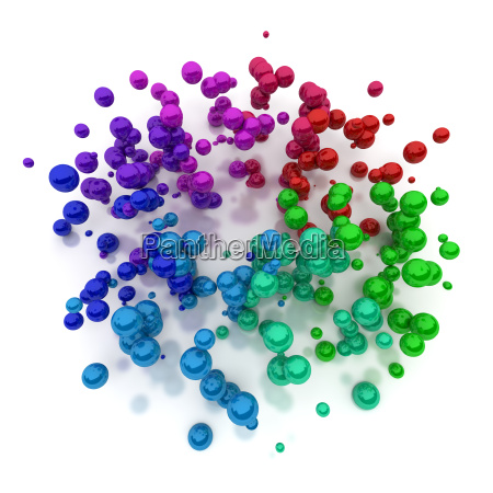 floating colourful pearls