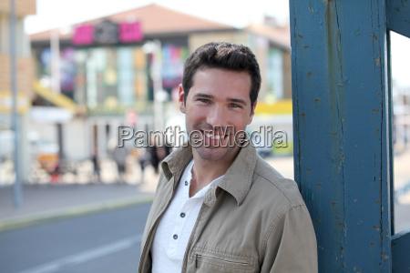 portrait of handsome man standing in