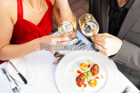 dinner or lunch in restaurant