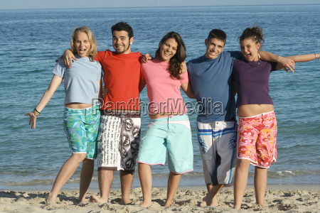 group of diverse students on summer