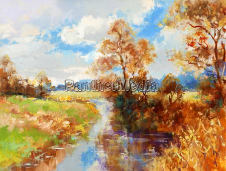 autumn landscape painted