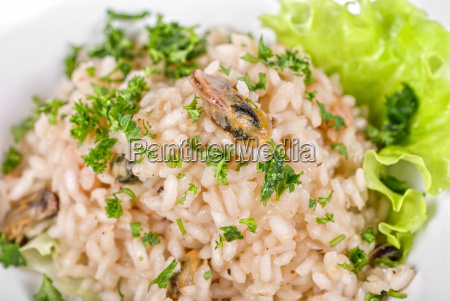 risotto whit seafood