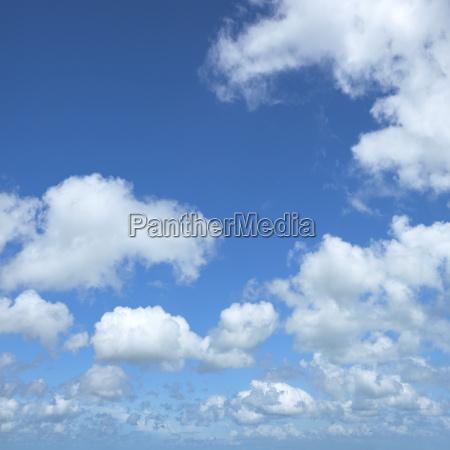 beautiful cloudy sky square crop made