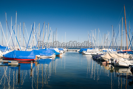 marina on lake starnberg